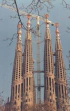 Barcelona kuulsaim vaatamisväärsus, gaudi projekteeritud Sagrada familia katedraali ehitus.