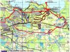 GPSi jälg kaardil: väntasime Loo muna juurest läbi Jägala Muugale.