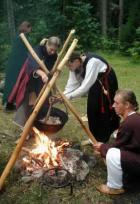 Eestlaste laager Käsmu viikingipäevadel.