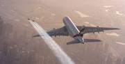 Jetpakiga Airbusi kõrval