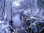 Vääna jõgi peale esimest suuremat lumeuputust
