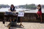 Moosekant ja turist Prahas Karli sillal
