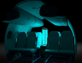 RAY UV-robot Dash 8-400 lennukisalongis on loodud Aero HygenXi poolt. Foto: CNW Group/De Havilland Aircraft of Canada